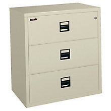 "Fireproof Three Drawer Lateral File - 38""W, FIR-3S3822-CSCML"