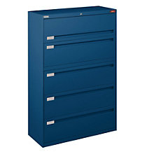 "Five Drawer Lateral File - 42""W, NBF-4260L50"
