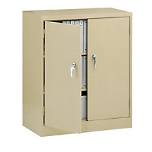 "Fully Assembled Steel Counter Height Storage Cabinet - 36""W x 18""D x 42""H, TES-4218"
