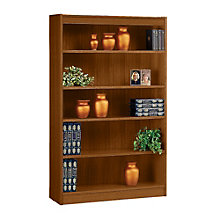 "Square Edge Five Shelf Reinforced Bookcase -60""H, ERC-L13660"