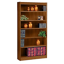 "Square Edge Six Shelf Reinforced Bookcase -72""H, ERC-L13672"