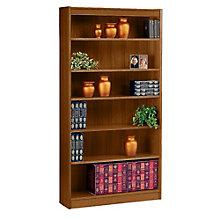 "Square Edge Six Shelf Reinforced Bookcase -72""H, ERC-L13672"