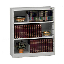 "RTA Three Shelf Steel Bookcase - 42""H, TES-B-4200"