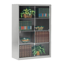 Steel Bookcase with Glass Doors, TES-352GL