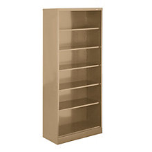 "Six Shelf Steel Bookcase - 18""D, 8804073"