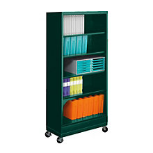 "Five Shelf Mobile Steel Bookcase - 79""H, TES-BC18-72M"