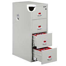 "Fireproof Four Drawer Legal Size Vertical File - 25""D, FRK-4-2125-C"
