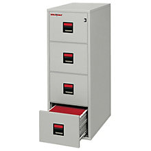 "Fireproof Four Drawer Legal Size Vertical File - 25""D, FIR-4U2157-25D"