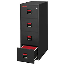 "Fireproof Four Drawer Letter Size Vertical File - 31""D, FIR-4U1857-31D"