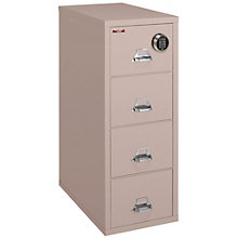 "Fireproof Four Drawer Letter Size Vertical File - 31""D, Electronic Lock, FIR-4-1831-CEL"