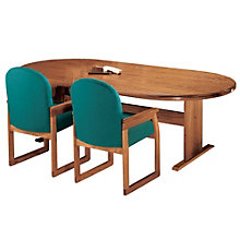 Solid Oak 10' Oval Conference Table, LES-V1620T8