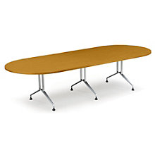 "Racetrack Conference Table with Sculpted Steel Base - 96"" x 48"", GLO-GRT8WS"