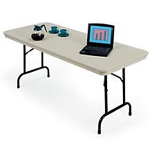 "Plastic Rectangular Folding Table - 30"" x 72"", KRU-3072"