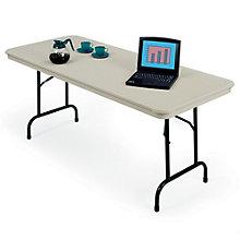 "Plastic Rectangular Folding Table - 30"" x 72"", KRU-3072"