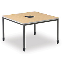 "Training Table with Built-In Electric and Data Ports - 48"" x 48"", OFM-66248"