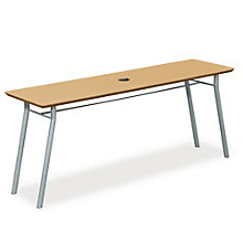 "Mystic Utility Table with Data Port - 72"" x 20"", LES-S1172R4P"