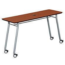 "Mystic Utility Table with Casters and Data Port - 60"" x 20"", LES-S1160Q4P"