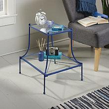 Eden Rue Glass Shelf Side Table, 8807656