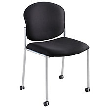 Diaz Armless Guest Chair with Casters in Fabric or Vinyl, 8802461
