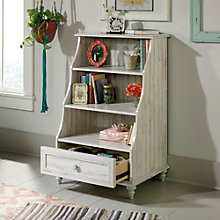 Eden Rue Reversible Back Panel Two Shelf Bookcase with Drawer, 8807664