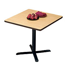 "Breakroom Table with Black Base - 30"" Square, MOD-3030-30SQ"