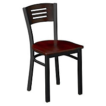 Metal Frame Cafe Chair with Wood Seat and Back, 8802855