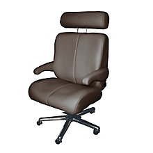 Big and Tall Office Chair in Genuine Leather, 8810171