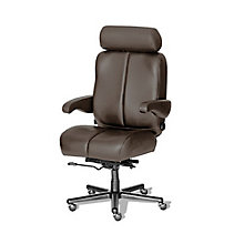Big and Tall Office Chair in Genuine Leather, 8810174