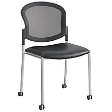 Diaz Mesh Back Guest Chair with Casters with Fabric or Vinyl Seat, 8802464