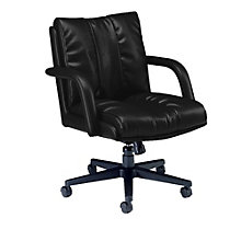 Troy Leather Desk Chair, GLO-3697