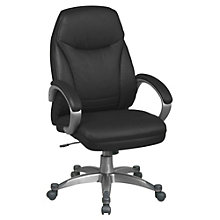 Work Smart High Back Faux Leather Executive Chair, OFF-FLH80006