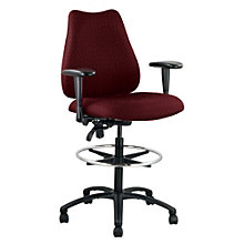 Quasar Big & Tall Stool with Arms, ERC-E77882STWA