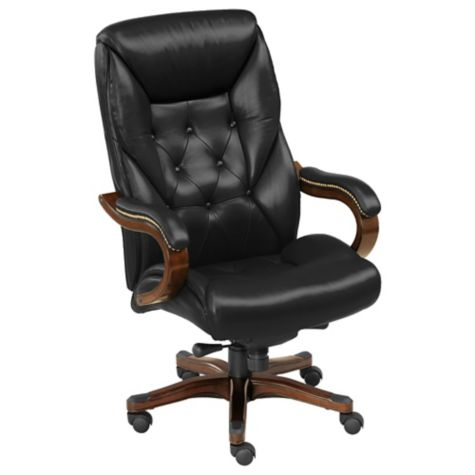 Traditional Tufted Leather Executive Chair