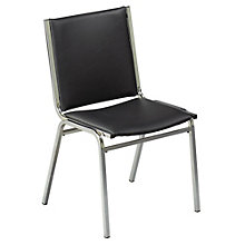 Armless Vinyl Stack Chair, KFI-410V