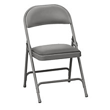 "Vinyl Folding Chair with 1-3/8"" Thick Seat, KRU-NBF.04"