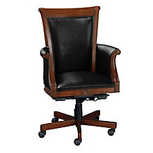 Rue de Lyon Traditional Leather Executive Chair, 8802988