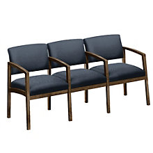 Lenox Three Seater with Center Arms in Designer Upholstery , 8803739