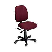 24-Hour Armless Mid Back Ergonomic Task Chair, ERC-E5285