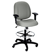 Mid-Back 24/7 Ergonomic Stool with Arms, ERC-10180