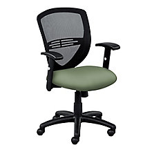 Network Mesh Back Faux Leather Seat Task Chair, 8804273