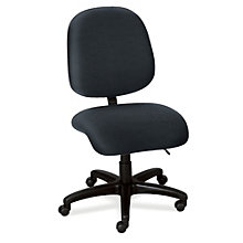 24-Hour Armless Mid Back Ergonomic Task Chair, ERC-E53554