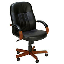 Shephard Hardwood Frame Computer Chair in Bonded Leather, 8802610