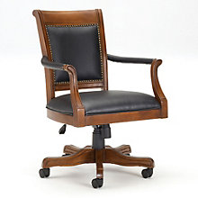 Kingston Adjustable Office Chair in Leather, 8803920