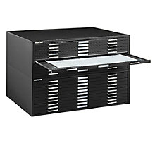 "Steel Ten Drawer 54"" Wide Flat File Cabinet, 8804053"