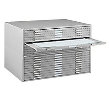 "Steel Ten Drawer 47"" Wide Flat File Cabinet, MAL-7978C"