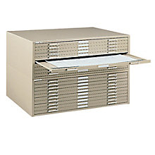 "Steel Ten Drawer 41"" Wide Flat File Cabinet, MAL-7977C"