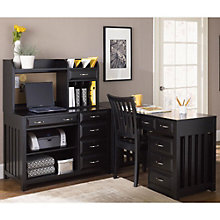 Hampton Bay Black L-Desk Set, OFG-LD0086