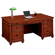 West Indies Cherry Double Pedestal Executive Desk, DMI-7480-36