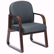 Sled Base Wood Reception Chair, 8802404