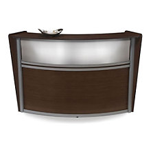 Marque Curved Reception Station with Plexi Panel, OFM-55310